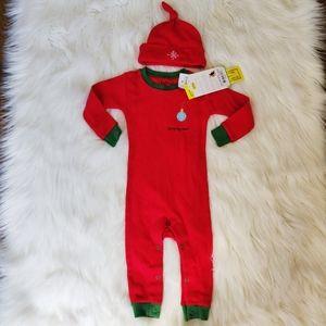 Brand New Hatley onesie Christmas pajamas